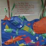 Stuffed fish art at Nappanee