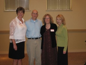 Brenda Dales (right) and Terri Socol (left) organized a Children's Literature Conference where Gordon Korman and I spoke.
