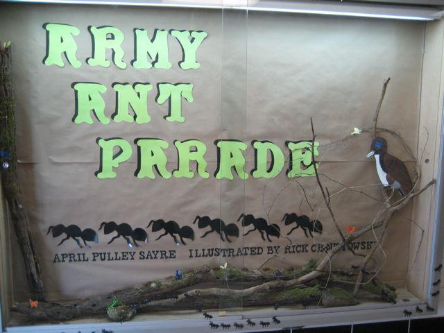 army ant parade display