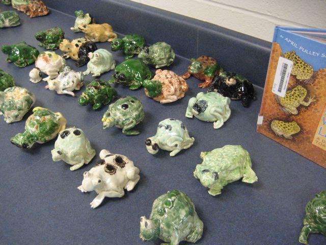 toad sculptures