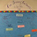 Harrison School, an entire grade, celebrated continents!