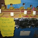 Harrison School students created a noodle table