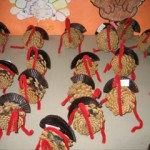 They began with pine cone turkeys for Thanksgiving time.
