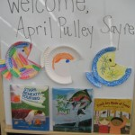Librarian Val Byrd Fort at New Providence Elem came up with this fish craft to go with my books.