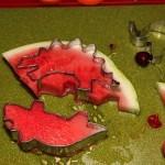 How to make watermelon cutouts