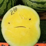 A smiling watermelon!